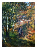 The Painter Lecoeur in the Woods of Fontainebleau, 1866 Giclee Print by Pierre-Auguste Renoir