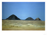 Three Pyramids on the Limestone Plateau at Giza, 4th Dynasty, Old Kingdom Giclee Print