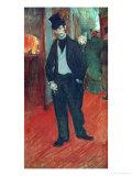 Gabriel Tapie De Celeyran in a Theater Corridor, 1893-1894 Giclee Print by Henri de Toulouse-Lautrec