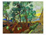 The Garden of St. Paul's Hospital at St. Remy, c.1889 Reproduction procédé giclée par Vincent van Gogh