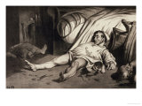 Rue Transnonain, 15 Avril 1834, a Murdered Family Giclee Print by Honore Daumier