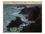 The Rocks of Belle-Ile, 1886 Giclee Print by Claude Monet