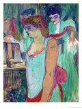 The Tattoed Woman or the Toilette Lámina giclée por Henri de Toulouse-Lautrec