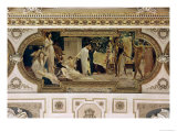 A Greek Travelling Theatre (Il Carro Di Thespis), Ceiling Fresco, 1884-1887 Reproduction procédé giclée par Gustav Klimt