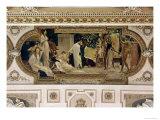 A Greek Travelling Theatre (Il Carro Di Thespis), Ceiling Fresco, 1884-1887 Giclée-Druck von Gustav Klimt