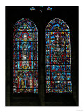 Saint George and Saint Gilles, Stained Glass Window in the Nave, circa 1200-15 Giclee Print