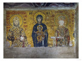 Madonna and Child, Flanked by Empress Irene and Emperor John II Komnenos (1118-1134) Giclee Print