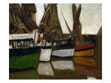 Fishing Boats, Honfleur, 1866 Giclee Print by Claude Monet