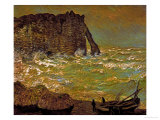 Storm at Etretat, 1883 Giclee Print by Claude Monet