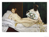 Olympia, 1863-1865 Giclee Print by Édouard Manet
