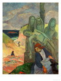 Green Christ, 1889, Inspired by the Calvaires, the Calvary-Sculptures of Brittany Giclee Print by Paul Gauguin