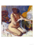 Nude Woman after the Bath Reproduction proc&#233;d&#233; gicl&#233;e par Edgar Degas