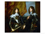Double Portrait of the Palatine Princes Karl Ludwig I, Elector and His Brother Robert (1619-1682) Giclée-Druck von Sir Anthony Van Dyck