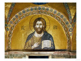 Byzantine Mosaic: Christ Pantocrator (Close-Up View of Mosaic in the Narthex) Reproduction procédé giclée