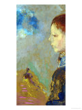 Portrait of Ari Redon (1889-1972) with a Sailor Blouse, 1897 Giclee Print by Odilon Redon