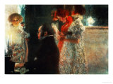 Schubert at the Piano, 1899 Gicle-tryk af Gustav Klimt