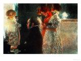 Schubert at the Piano, 1899 Giclée-tryk af Gustav Klimt