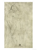 Lovers, Black Crayon (1908) Reproduction procédé giclée par Gustav Klimt