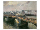 Sunset Over the Boieldieu Bridge at Rouen, 1896 Giclee Print by Camille Pissarro