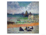 The Beach at Dieppe, or the Bathers, 1885 Giclee Print by Paul Gauguin