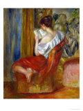 Reading Woman, circa 1900 Giclée-tryk af Pierre-Auguste Renoir