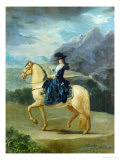 Equestrian Portrait of Maria Teresa De Vallabriga Lmina gicle por Francisco de Goya
