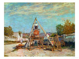 Sawing Wood, 1867 Giclee Print by Alfred Sisley