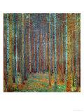 Dennenbos, 1902 Gicléedruk van Gustav Klimt
