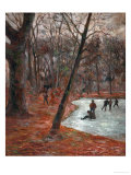 Skaters in the Park in Frederiksberg, 1884 Giclee Print by Paul Gauguin