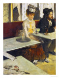 Dans Un Cafe or L'Absinthe, Ellen Andree and Marcellin Desboutin, Around 1875-1876 Giclee Print by Edgar Degas