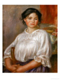 Young Girl Seated, 1909 Giclee Print by Pierre-Auguste Renoir