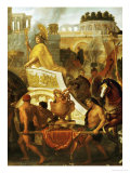 Alexander the Great Enters Babylon, 1665, Detail Giclee Print by Charles Le Brun