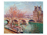 Pont Royal and the Pavillon De Flore, 1903 Giclee Print by Camille Pissarro