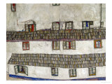 Old Houses (Krumlov, Bohemia), 1917 Reproduction proc&#233;d&#233; gicl&#233;e par Egon Schiele