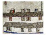 Old Houses (Krumlov, Bohemia), 1917 Giclee Print by Egon Schiele