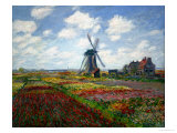 A Field of Tulips in Holland, 1886 Giclee Print by Claude Monet
