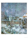 Snow in the Rue Carcel, 1883 Giclee Print by Paul Gauguin