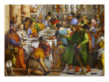 The Wedding at Cana, from the Benedictine Convent of San Giorgio Maggiore, Venice Giclee Print by Paolo Veronese