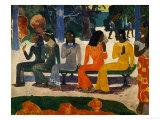 Ta Matete (Le marché) Impression giclée par Paul Gauguin
