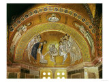Christ Washing the Feet of an Apostle, Mosaic at the North End of the Narthex Giclee Print