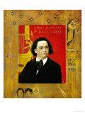 Joseph Pembauer, Pianist and Piano Teacher, Frame Also by Gustav Klimt Giclée-Druck von Gustav Klimt