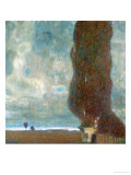 The Large Poplar Tree (II) or Coming Storm Giclee Print by Gustav Klimt