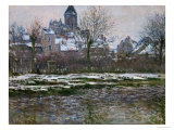The Church at Vetheuil, Snow, 1878-79 Giclee Print by Claude Monet