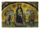 Madonna and Child, Flanked by Emperor Justinian (527-565), Left; and Constantine I (280-337) Giclee Print