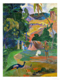 Matamoe (Peacocks in the Country), 1892 Reproduction proc&#233;d&#233; gicl&#233;e par Paul Gauguin