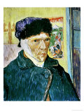 Self-Portrait with Bandaged Ear, c.1889 Giclee Print by Vincent van Gogh
