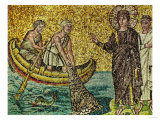 Second Apparition of Jesus Christ to Fishing Apostles on the Lake Galilee, Mosaic Giclee Print