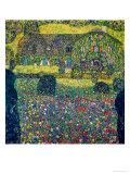 Gustav Klimt - Country House on Attersee Lake, Upper Austria, 1914 Digitálně vytištěná reprodukce
