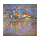 Sunset in Vetheuil, 1900 Giclee Print by Claude Monet