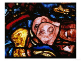 The Elephants Leave Noah's Ark, from the Noah Window, Stained Glass Giclee Print